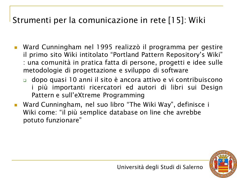 Strumenti per la comunicazione in rete [15]: Wiki